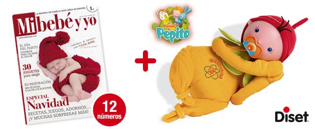 12 números Mi bebé y yo <br>+ LA PEQUEÑA MANDARINA de DISET <br> (El Mundo de Pepito)