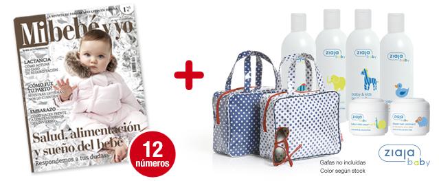 12 números Mi bebé y yo<br>+ Pack Baby Care de ZIAJA:<br> 6 productos higiene bebé + 1 neceser