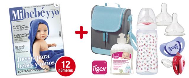 12 números Mi bebé y yo <br>+ Súper pack Primeros mimitos: <br>7 REGALOS para tu bebé