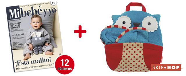 12 números Mi bebé y yo<br>+ Mantita Zoo Owl (azul)<br>de SKIP-HOP