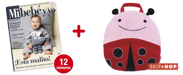 12 números Mi bebé y yo<br>+ Mantita Zoo LadyBug (rosa)<br>de SKIP-HOP