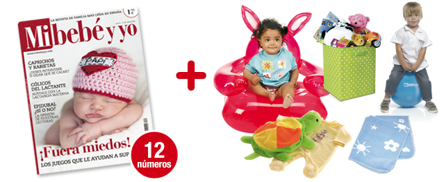 12 números Mi bebé y yo <br>+ Pack Habitación Divertida.<br> Se compone de 5 REGALOS