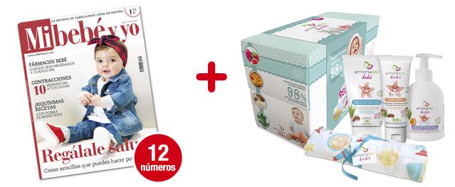 12 números Mi bebé y yo <br> + Cofre Armonía Bio Bebé: <br> 4 productos para tu bebé