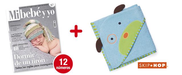 12 números Mi bebé y yo<br>+ Toalla Zoo Dog (azul)<br>de SKIP-HOP