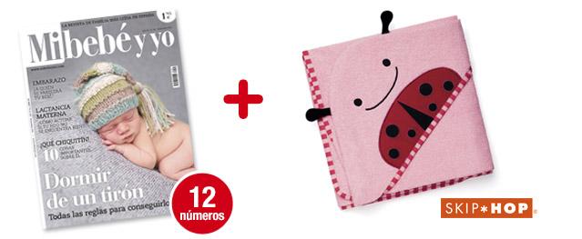 12 números Mi bebé y yo<br>+ Toalla Zoo Lady Bug (rosa)<br>de SKIP-HOP