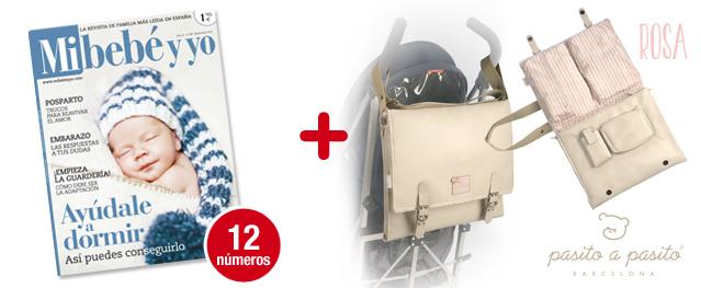 12 números Mi bebé y yo <br>+ Bolsa de Maternidad ROSA <br>Pasito a Pasito