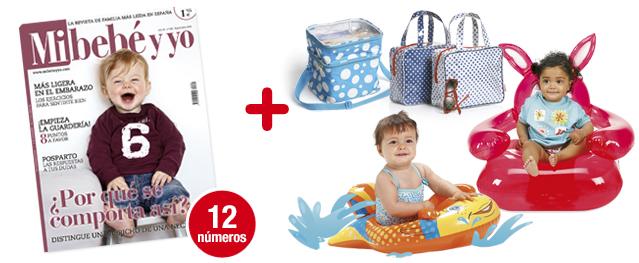12 números Mi bebé y yo<br>+ Pack Vamos a la playa ¡oh, oooh, oh!<br>4 regalitos para tu peque